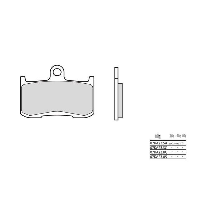 wacox plaquettes de frein brembo 07ka23 rc carbone ceramique racing av zx9r pas cher achat. Black Bedroom Furniture Sets. Home Design Ideas