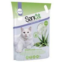 Sanicat - Litiere gel de silice parfumée Aloe Vera 5L - Pour chat