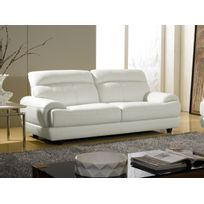 Canape Cuir Blanc Places Achat Canape Cuir Blanc Places Pas - Canapé cuir blanc 3 places
