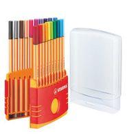 Stabilo - Stylo feutre Point 88 - Chevalet de 20 couleurs