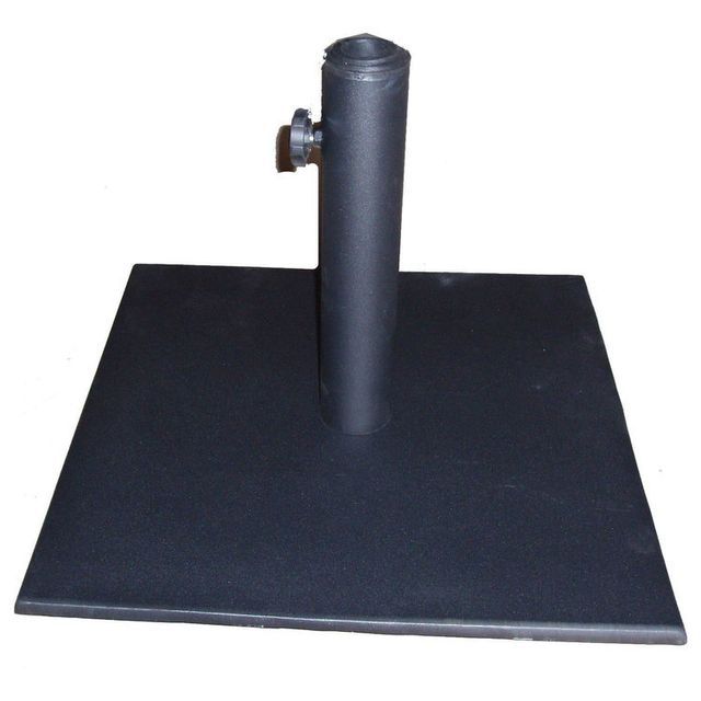 Marque Generique Pied de parasol carré en acier 17kg Calabria