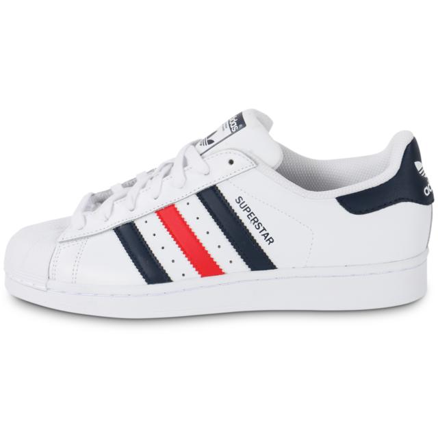 adidas superstar bleu blanc rouge homme