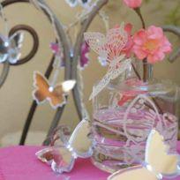 Blachère illumination - Guirlande Led Papillons miroir multicolores