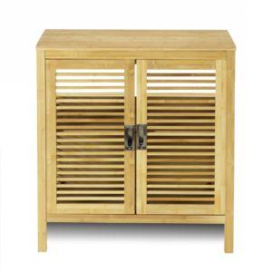 alin a nature meuble de salle de bains en bambou 80cm pas cher achat vente meuble bas. Black Bedroom Furniture Sets. Home Design Ideas