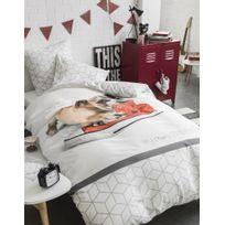 La Maison D'AMELIE - Parure de couette 100% polyester 140x200 Doggy