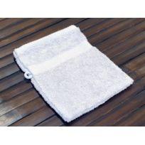 David Olivier - Gant de toilette luxe uni 100% coton gris clair