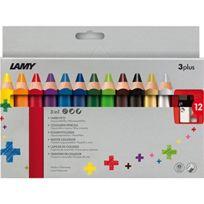 Lamy - BoÎTE De 12 Crayons De Couleur 3PLUS Avec Taille-crayon