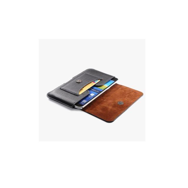 Amahousse - Etui Ceinture 155x87x10 Noir de qualité Ultra fin avec Porte  Carte ab316eb297e