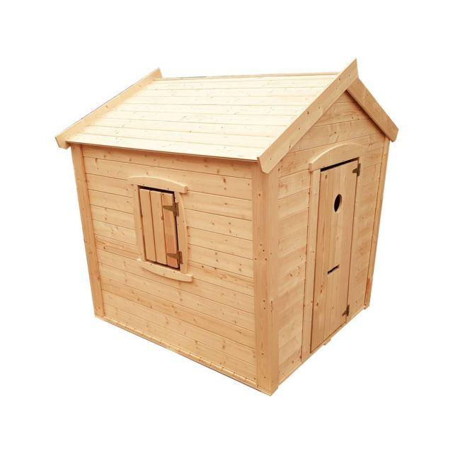 habitat et jardin maisonnette en bois 157x130cm pas. Black Bedroom Furniture Sets. Home Design Ideas