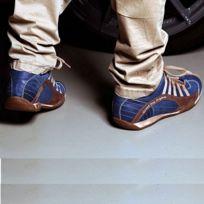 Gulf - Chaussures Grand Prix Original Seca bleues en cuir pour homme taille 44