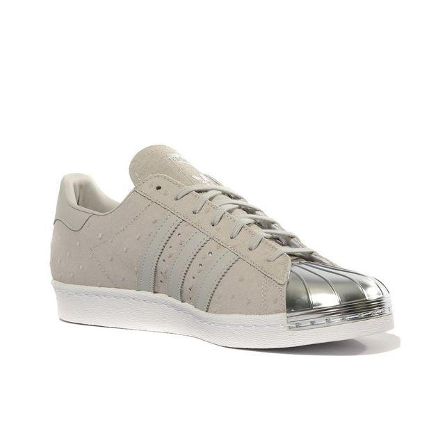 Adidas Chaussures Superstar 80S Metal Toe Beige Homme
