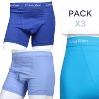 Calvin Klein - Calecon Pack X3 U2662g - 3 Trunk Svl Bleu