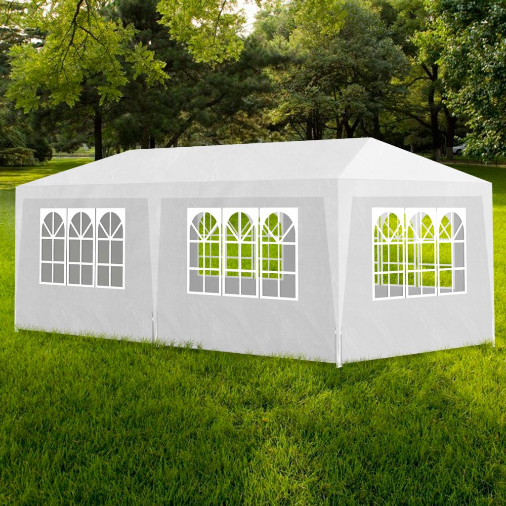 Rocambolesk - Superbe Tonnelle Pavillon de jardin blanc 3x6m Neuf