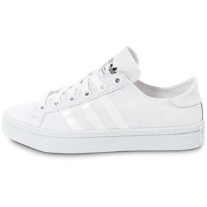 buy popular 3871c 96e9e ... chaussures adidas court vantage blanche vue exterieure .