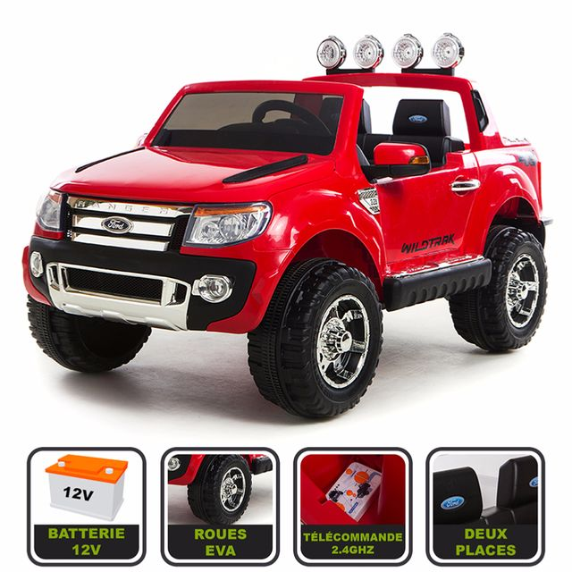 cristom 4x4 lectrique 12v pour enfant ford ranger wildtrak pas cher achat vente camions. Black Bedroom Furniture Sets. Home Design Ideas