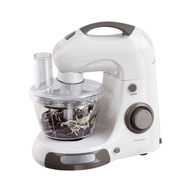 DOMOCLIP Robot multifonction 3 bols DOP169 Robot multifonction - 3 bols - 8 vitesses - fonction turbo - 2 bols rotatifs en inox de 4 L et 2 L