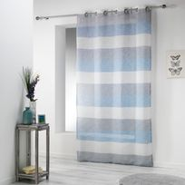 rideau voilage bleu achat rideau voilage bleu pas cher. Black Bedroom Furniture Sets. Home Design Ideas