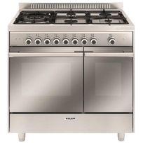 GLEM - cuisinière mixte b 67l 5 feux inox - gxd96cvix