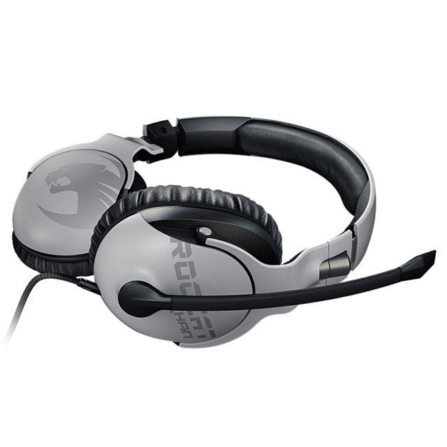 ROCCAT Casque Khan Pro Blanc Conçu pour la compétition, leROCCAT Khan Proest le premier casque gamer à être certifié Hi-Res Audio et qui vous met au coeur de l'action et du jeu. Avec sa large gamme de fréquences (de 10 Hz à 40 KHz), le Khan Pro vous pro