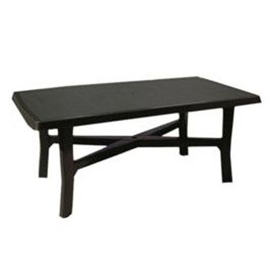 Lebrun Table de jardin 180 X 100 cm anthracite Beefy