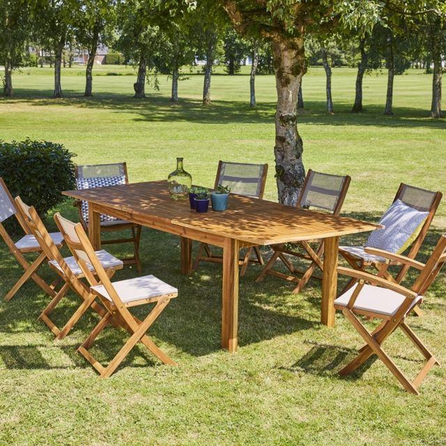 Bois Dessus Bois Dessous - Salon de jardin en bois d\'acacia ...