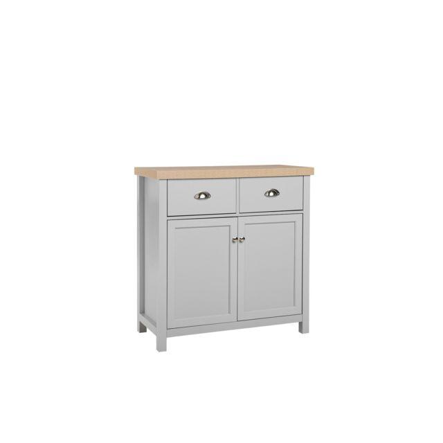 BELIANI Commode grise et bois clair CLIO - blanc