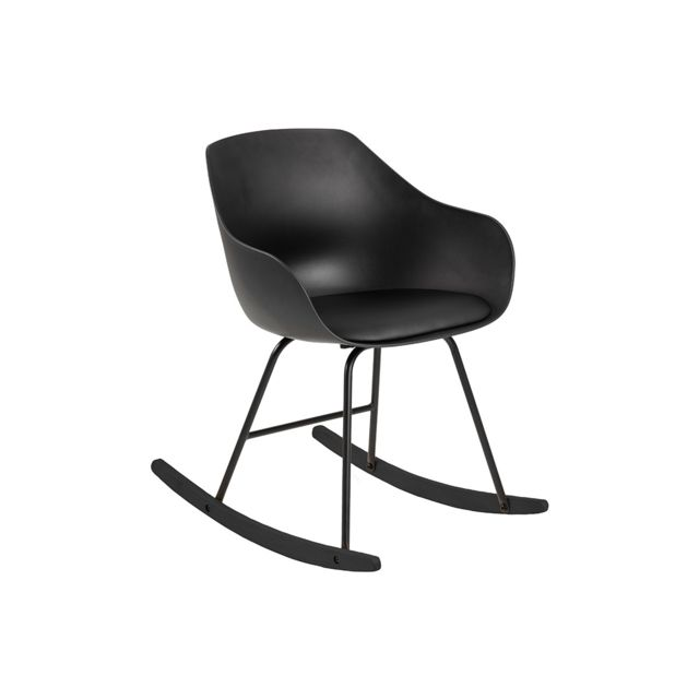 Miliboo Rocking chair design noir Kaala