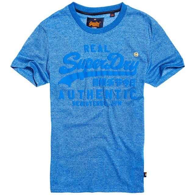 Superdry - Vintage Authentic Tonal T-shirt Mc Homme - Taille S - Bleu - pas  cher Achat   Vente Tee shirt homme - RueDuCommerce c7ec7e2034c1