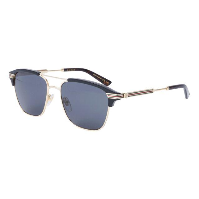 Gucci - Lunettes de soleil Gg-0241-S 002 Homme Noir - pas cher Achat   Vente  Lunettes Tendance - RueDuCommerce 63705acee3e7