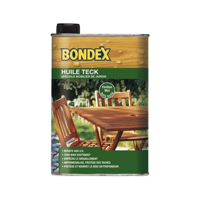 Bondex - Huile Teck pour mobilier de jardin - 0.5 L - pas cher Achat ...