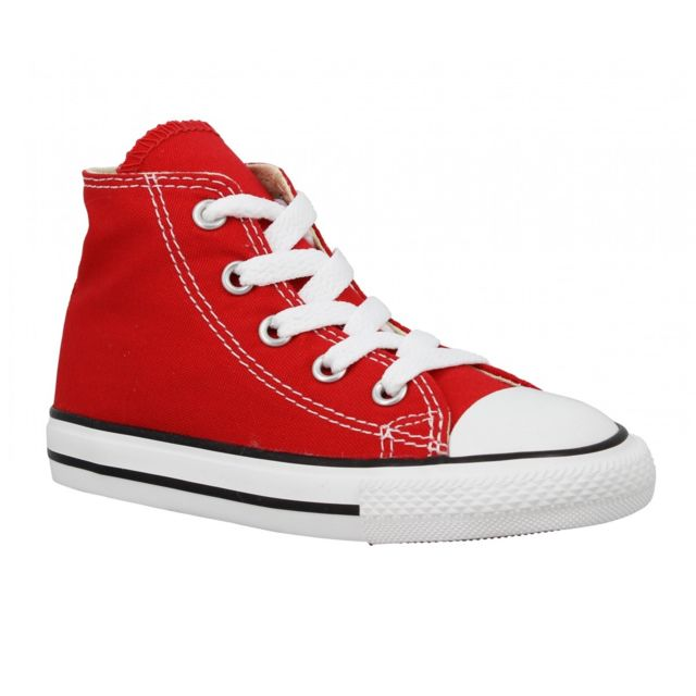 Chuck Taylor All Star Hi toile Enfant 26 Rouge