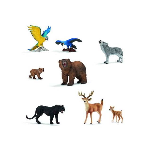 Schleich - Lot 8 animaux Amérique - pas cher Achat   Vente Animaux -  RueDuCommerce b4f1388bfe8