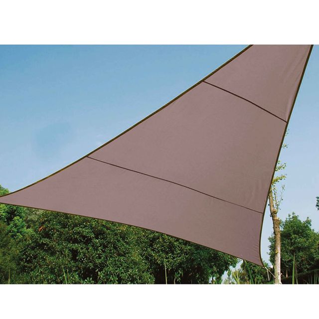 Provence Outillage Voile d'ombrage triangle 5 m taupe