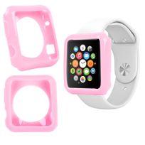 Duragadget - Coque de protection Rose pour Apple Watch iWatch, montre écran 42mm