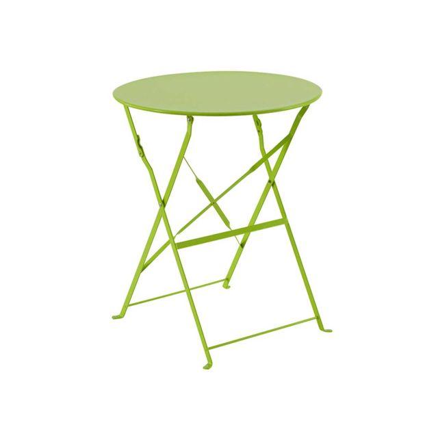 Table de jardin ronde Camargue Ø 60 cm Vert