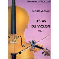 Lemoine - Méthodes Et Pédagogie Garlej B./ Gonzales J.f Les As Du Violon Vol.2 - Violon, Piano Violon Soldes