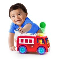 Bright Starts - Having a Ball Roll & Pop Fire Truck and School Bus