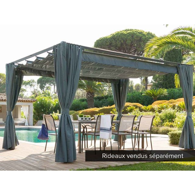 pergola alu pas cher pergola aluminium patio x l. Black Bedroom Furniture Sets. Home Design Ideas