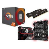 RUE DU COMMERCE - Kit EVO Ryzen 7 - AMD Ryzen 7 1700 - MSI B350 TOMAHAWK - 16 Go DDR4 HYPERX Fury