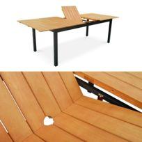 Soldes Table de jardin aluminium avec rallonge - 2e démarque Table ...