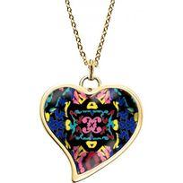 Christian Lacroix Bijoux - Collier et pendentif Christian Lacroix X46186DR - Collier et pendentif Coeur Tordu Doré Femme
