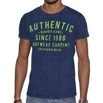 Biaggio - Jeans - T Shirt Manches Courtes - Homme - Lenel - Denim Vert