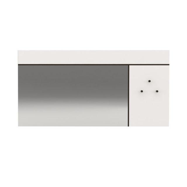 Tousmesmeubles Miroir rectangulaire Blanc/Gris anthracite - Florine