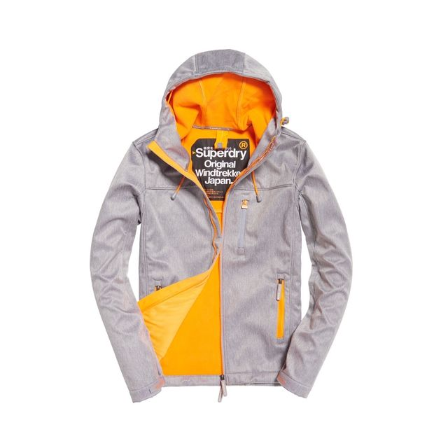 Grey Veste Softshell Orange Windtrekker Superdry 4xgzCwq8Ox
