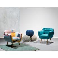 Beliani - Fauteuil patchwork - fauteuil en tissu multicolore - Melby