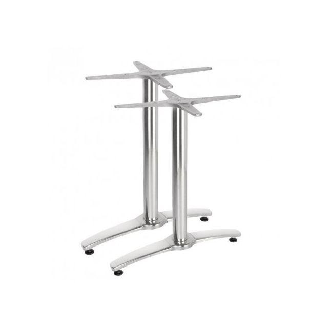 Materiel Chr Pro Pied de table double aluminium pour plateau 1100/700 - Bolero Gh985