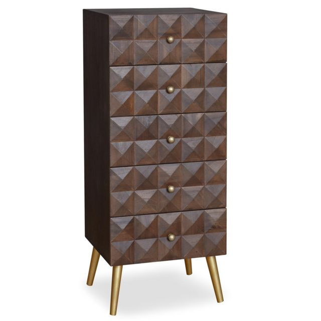 MENZZO Commode 5 tiroirs Sixty Bois
