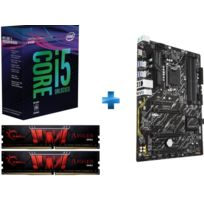 INTEL - Processeur i5-8400 -Socket 1151 - 2.8 Ghz - Cache 9M - Coffee Lake + Carte mère Z370P-D3 - ATX - Socket LGA1151 - Chipset Z370 + DDR4 Gaming Series - Aegis PC4-19200 / DDR4 2400 Mhz2 x 4GB CAS 15-15-15-35