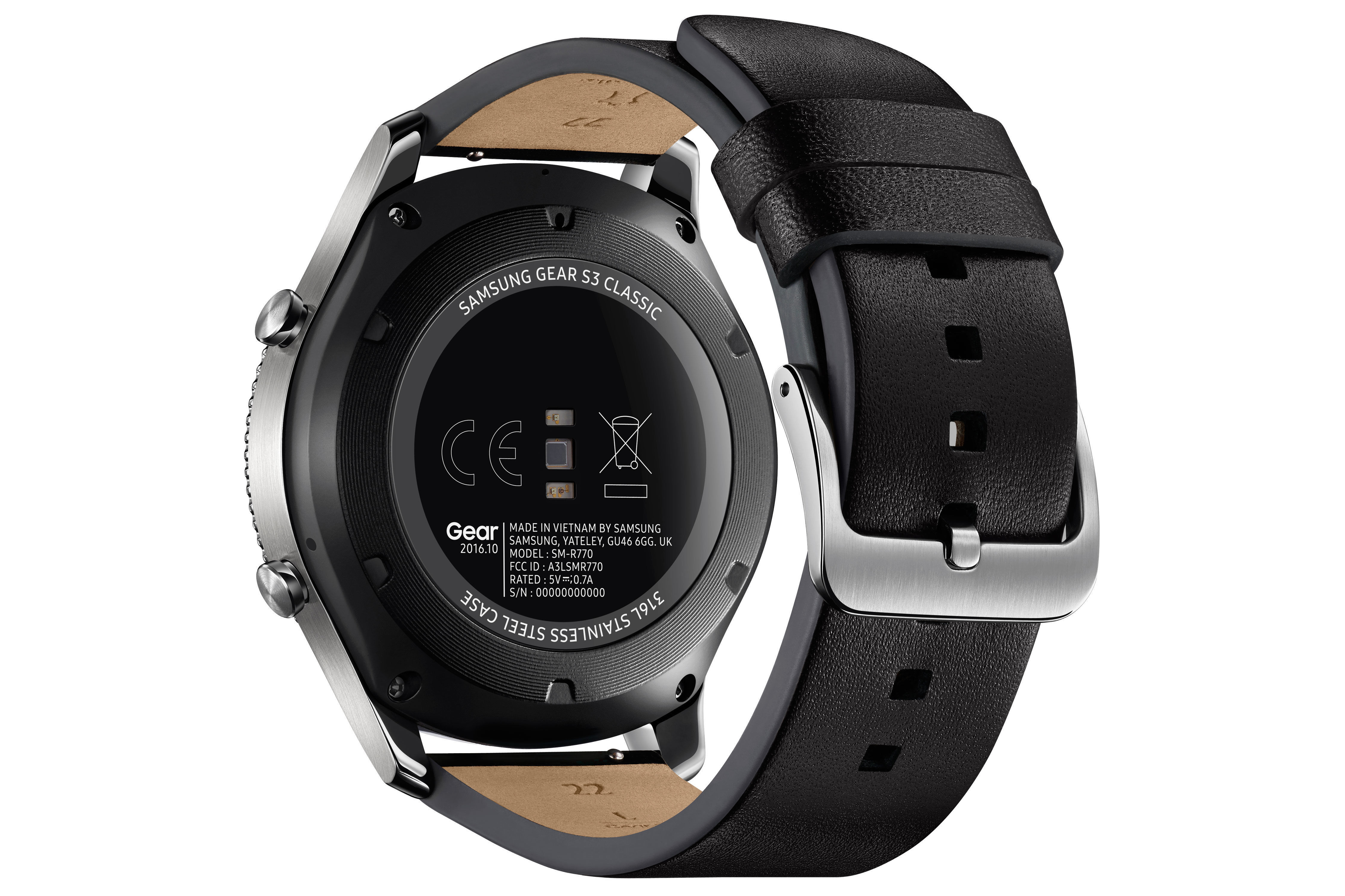 Gear S3 Classic - Argent/Noir - Bracelet Cuir