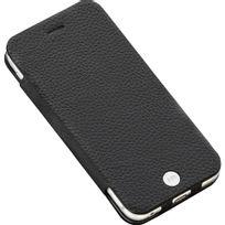 Just Mobile - Etui folio Quattro Leather noir pour iPhone 6s Plus 5,5 pouces